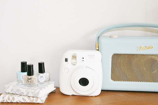 Katherine Penney Chic Bedroom Details Pastel Summer Pretty Roberts Radio Fujifilm Instax