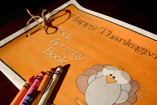Free Thanksgiving Kids Activity Book Printable