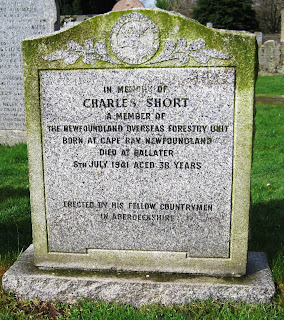 A headstone at Tullich Church, Deeside