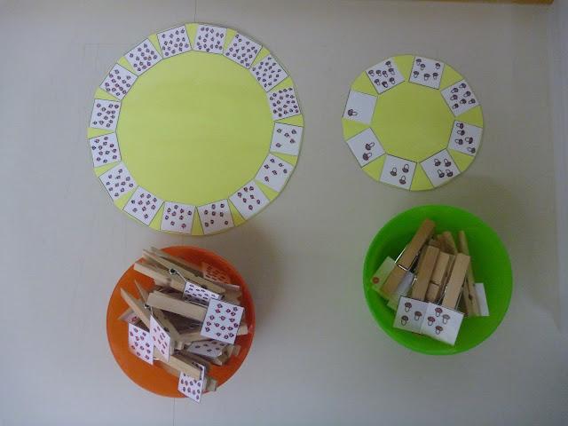 zählen im Kindergarten Spiel mit Selbstkontrolle