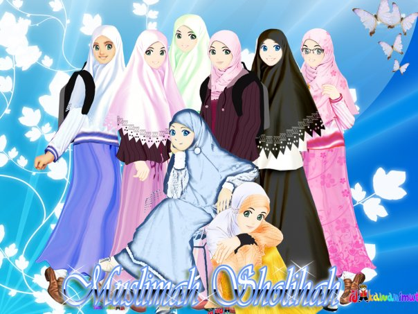 Gambar Kartun Muslimah Cantik Anggun Menawan Hati - Uniknih.com Berita ...