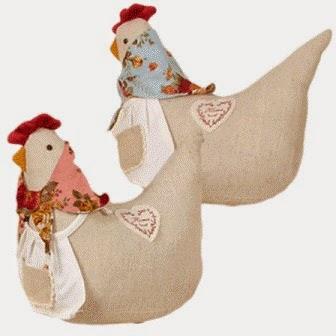 Sujetapuertas gallina pañuelo