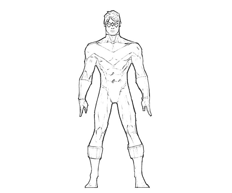 Nightwing Arkham Knight Coloring Pages Coloring Pages Nightwing Coloring Pages