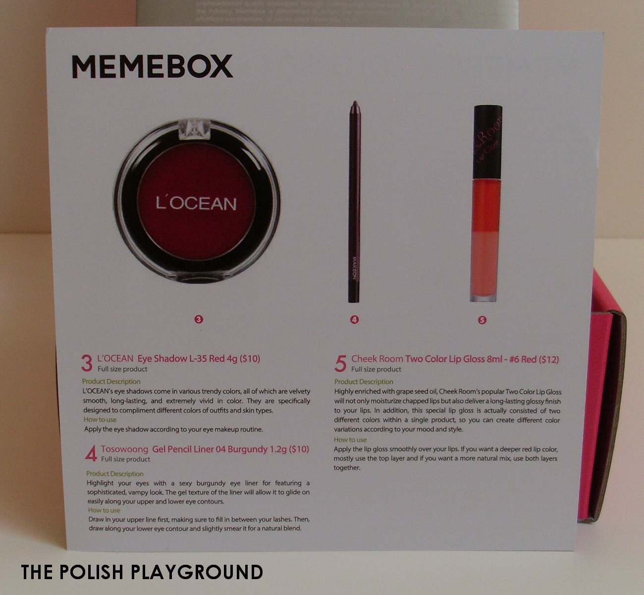 Memebox Colorbox #1 Red Unboxing