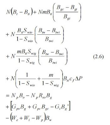 equation material balace reservoir