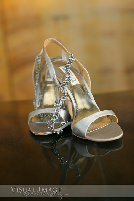 High heeled wedding shoes at Vida Salon and Day Lounge