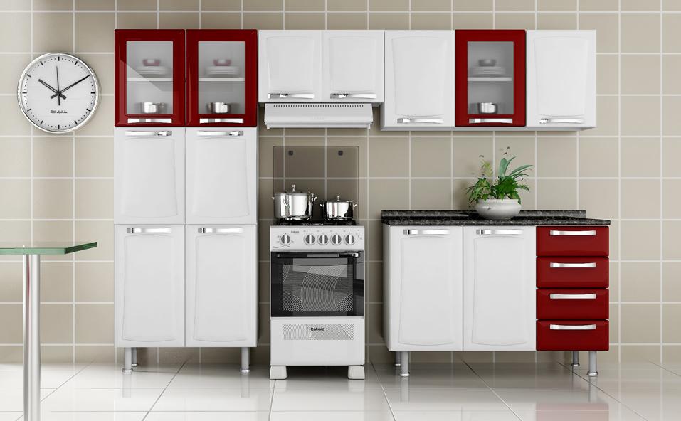 Aparador Suspenso Ikea ~ Cozinhas planejadas Cozinha planejada itatiaia