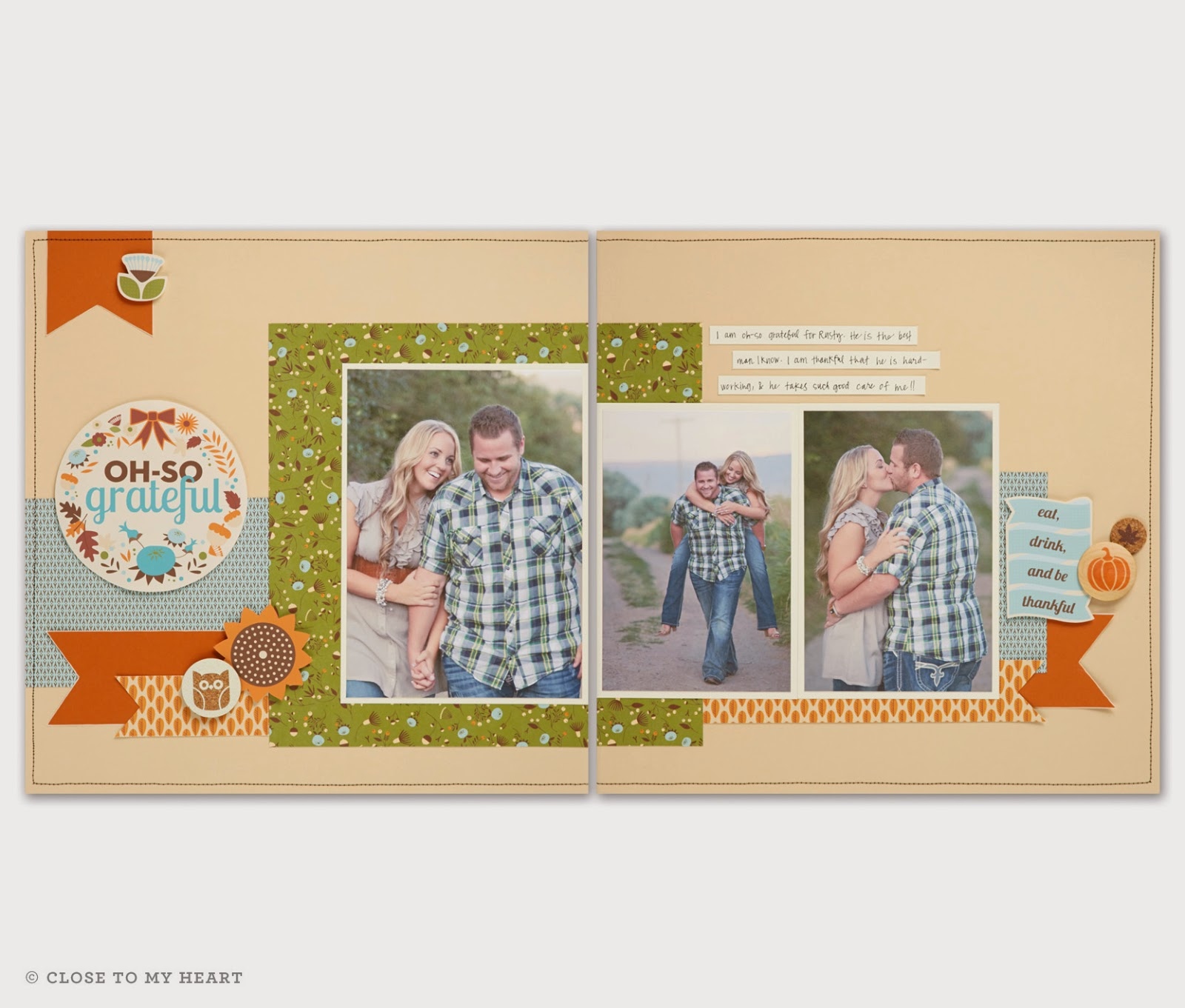 CTMH Pathfinding Paper Fall Scrapbook Layout