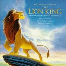 Cover of The Lion King: Original Motion Picture Soundtrack
