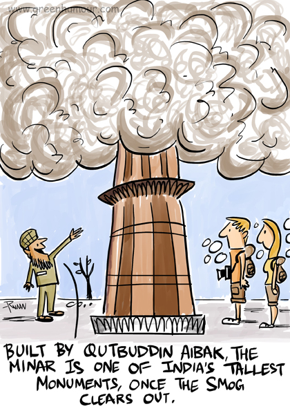Green humour air pollution in delhi a cartoon on the air pollution in delhi published in nat geo travellers travel humour section today sciox Gallery
