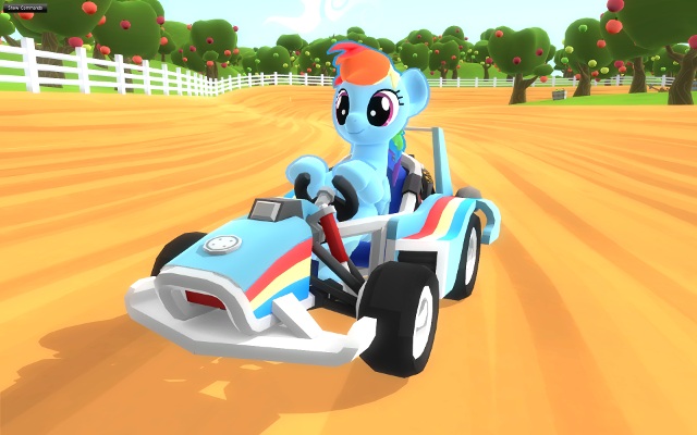 Rainbow Dash's kart design.