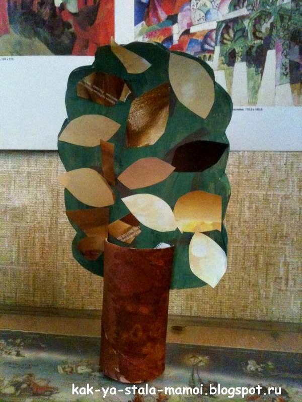 осеннее дерево, легкие поделки для детей, поделки для детей,