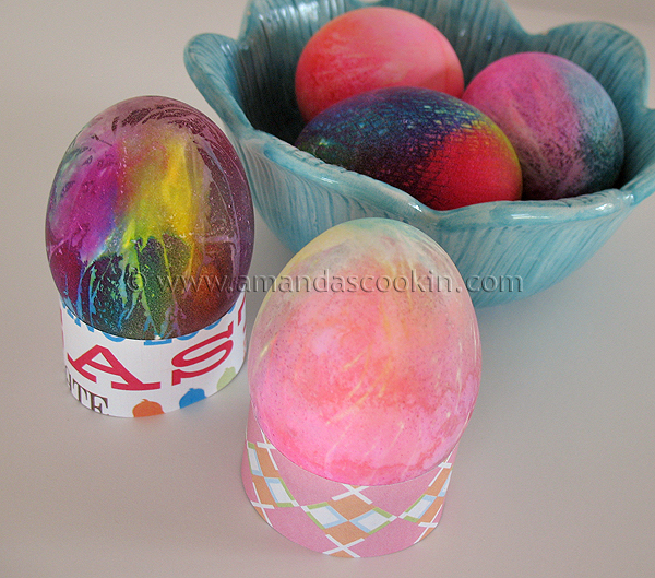 Tie Dye Easter Eggs how to make beautiful tie dye colored Easter