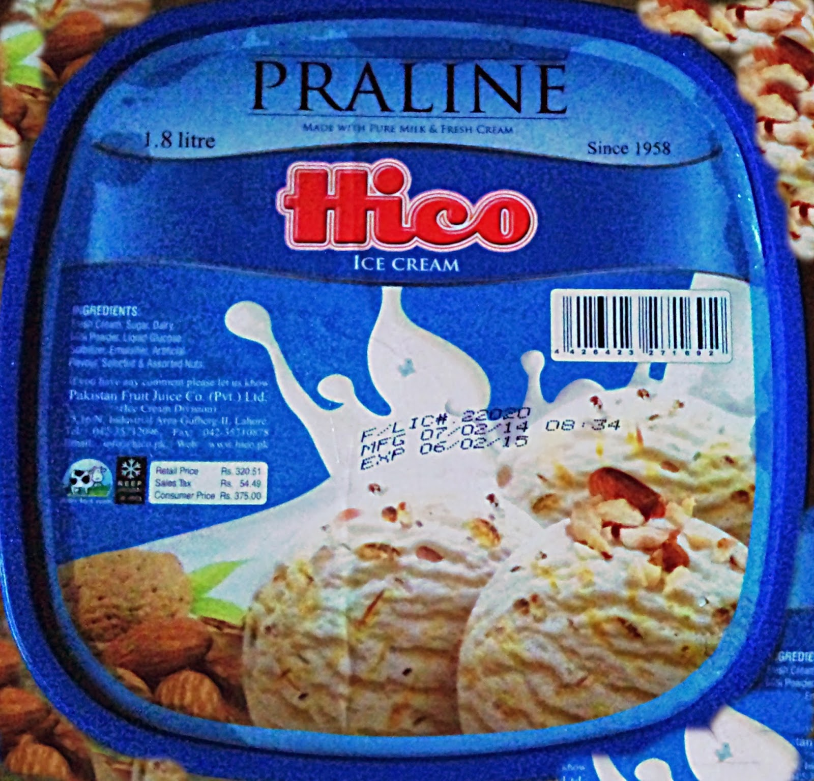 Hico PraLine Ice Cream