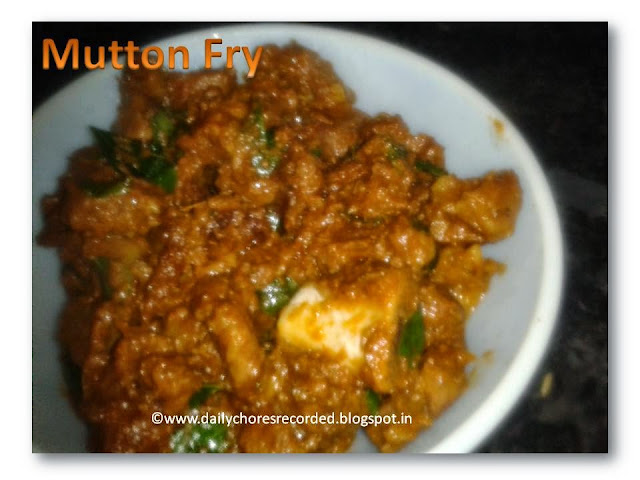 Mutton Fry | Nadan Erachi Vazhatiyadhu | Kerala Style