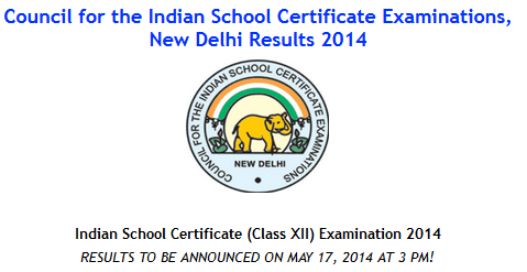 ISC 12 Result 2014