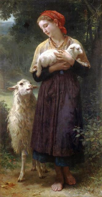 William Adolphe Bouguereau,genre painting,cute girl