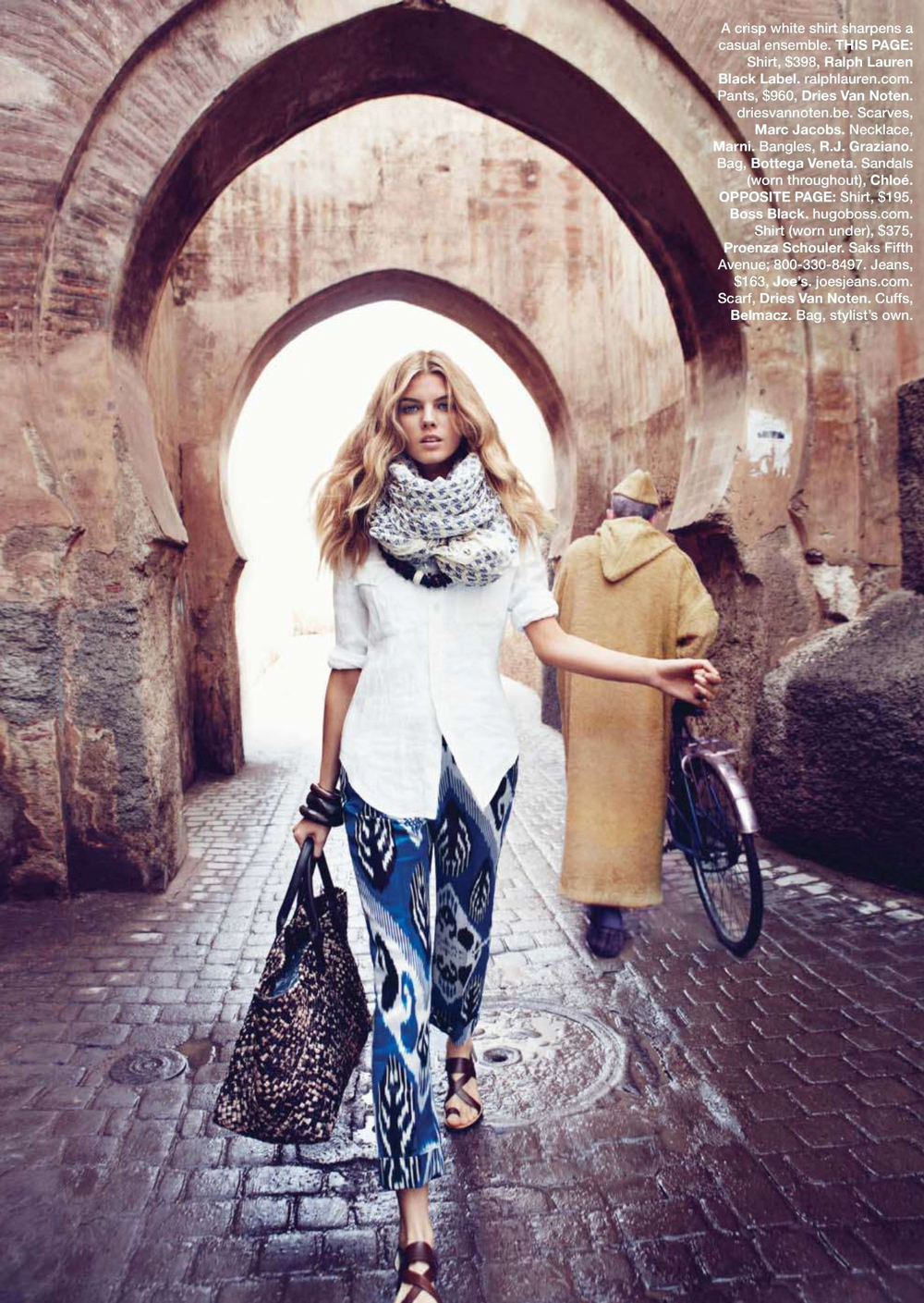 Maryna Linchuk in Marrakech moment / Harper's Bazaar US March 2010 (photography: Lachlan Bailey, styling: Alastair McKimm) via fashioned by love british fashion blog