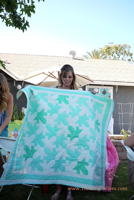 mint gender reveal baby shower