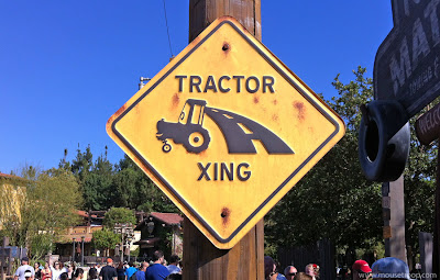 Tractor Crossing sign Cars Land Radiator Springs