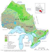 Ontario Regions Map (ontario relief map)