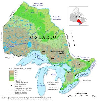 Ontario Regions Map