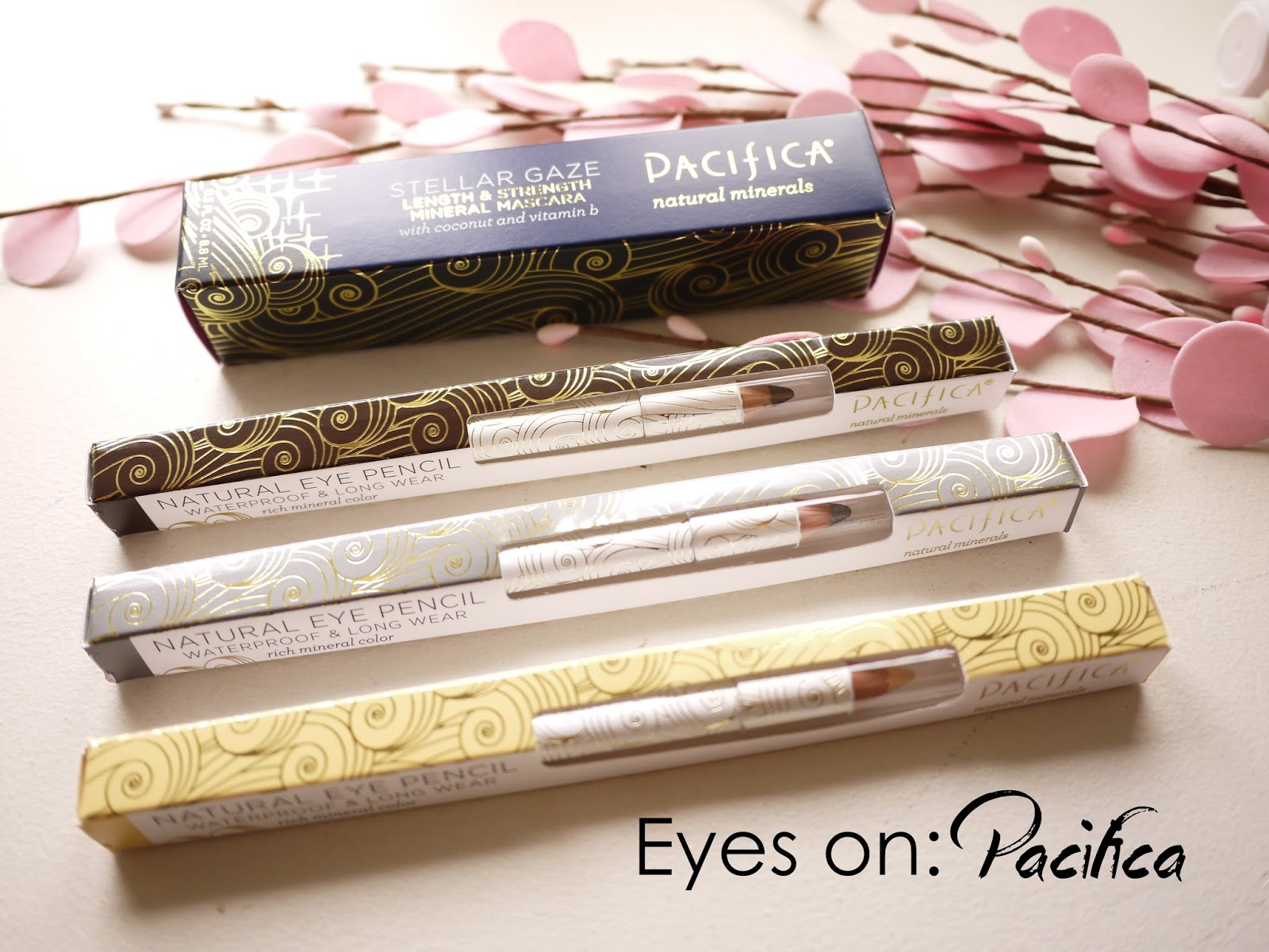 Pacifica Stellar Gaze length and strength Mascara and Fringe, Gun Metal and Bare Eye Pencils review