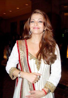 Aishwarya Rai in salwar kameez white