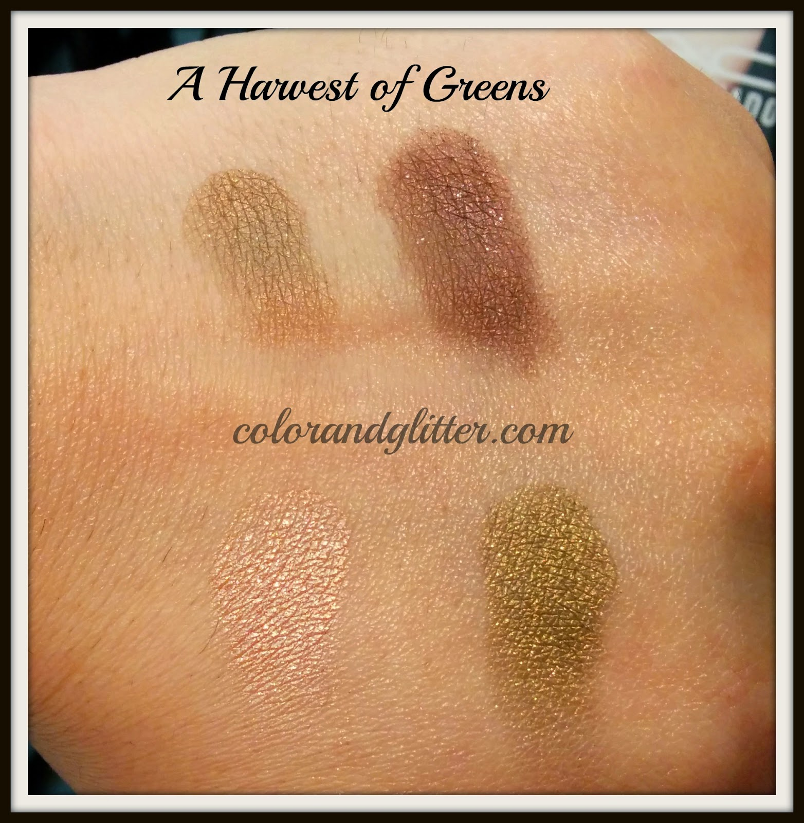 MAC mineralized eyeshadow x4 A harvest of greens