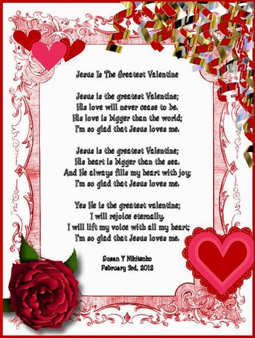 Free Christian Valentine's Day Poems For Kids 2014