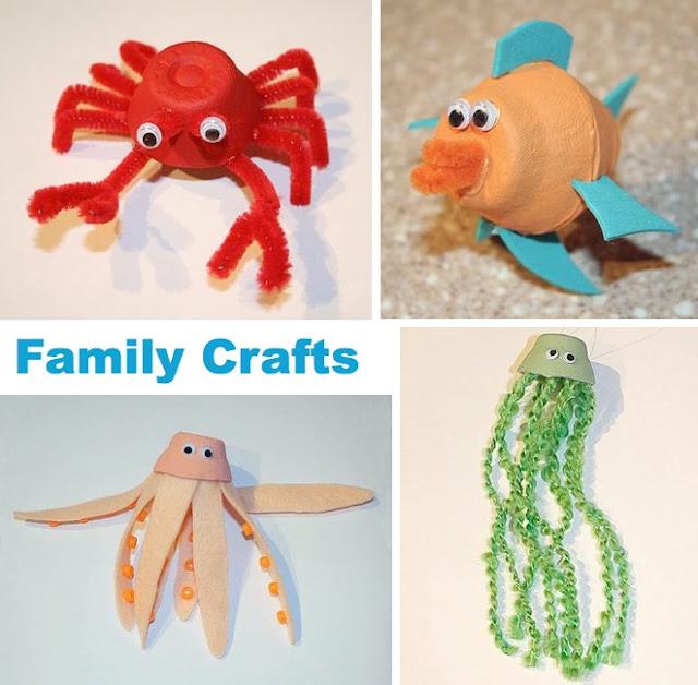 Manualidades con animales del mar imagui - Manualidades con hueveras ...