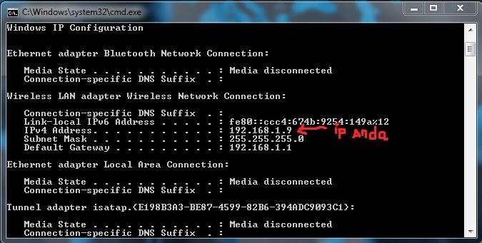 cara mengetahui alamat IP address laptop/komputer sendiri
