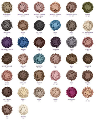 Urban Decay eye shades part 2