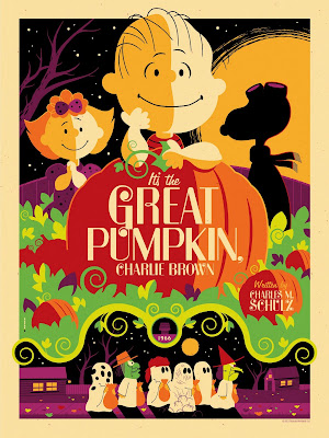 Peanuts &#8220;It&#8217;s The Great Pumpkin, Charlie Brown&#8221; Purple Variant Edition Screen Print by Tom Whalen