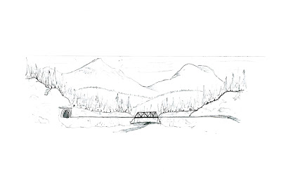 Original sketch of planned background