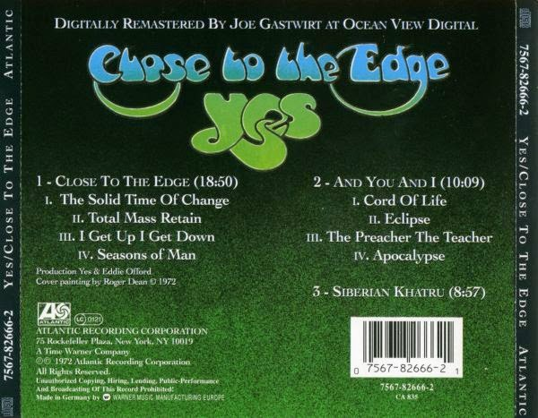 YES - Close to the Edge - Análise do album