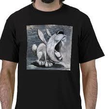 . : uma prenda de Natal muito trendy : . um avental ugly bunny literary journalist : .