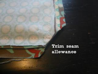 Trim seams and corners