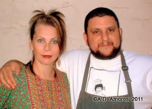 Glamorosi and Chef David Katz at Mémé
