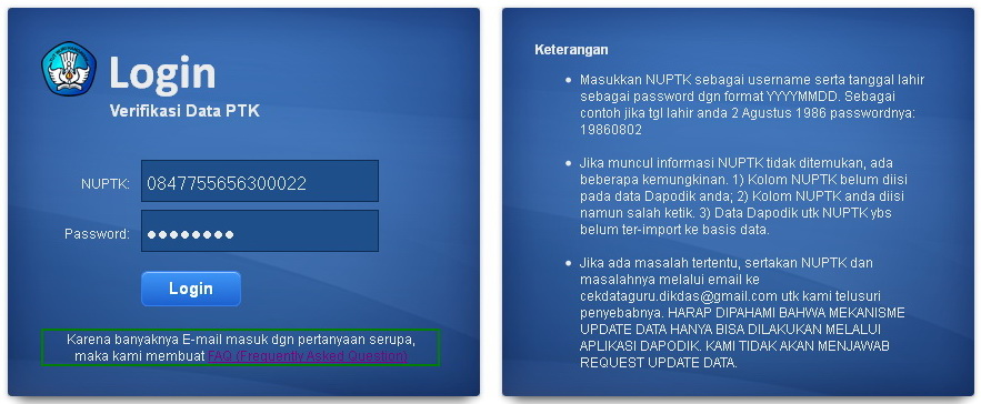 verifikasi data guru ptk
