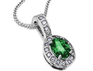 EmeraldNeclace diamondneclace weddingneclace engagementneclace neclace whitegoldneclace252812529 - Fabolous Necklace :)