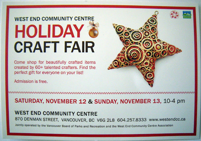 Flyer, Holiday Craft Fair 2011 West End Community Centre