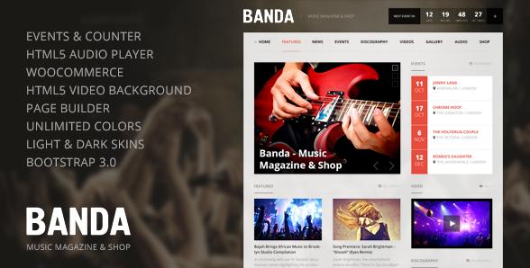 Banda v.1.0.4 - WordPress Music Magazine theme