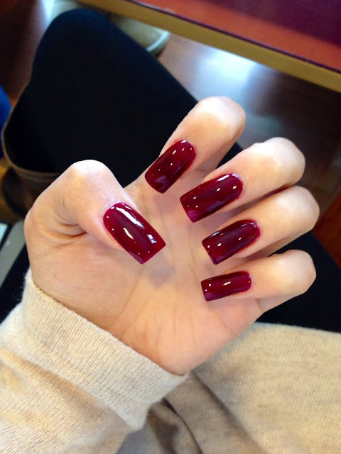 Dark Wine Nails