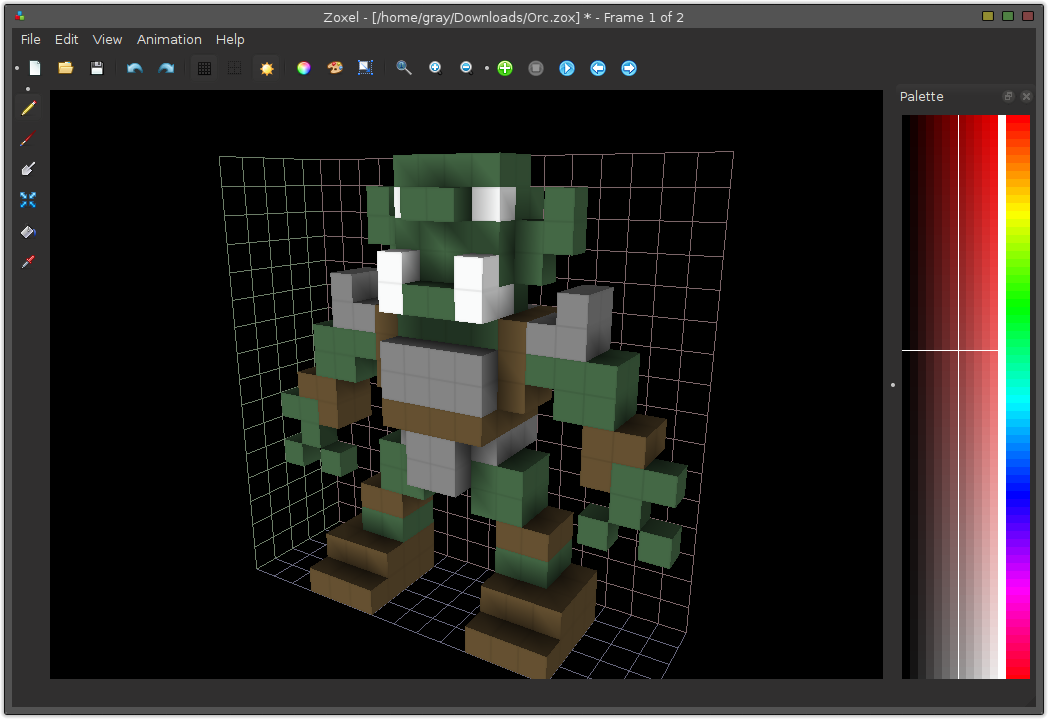 F l a s w f open source and free voxel editors 3d model editor