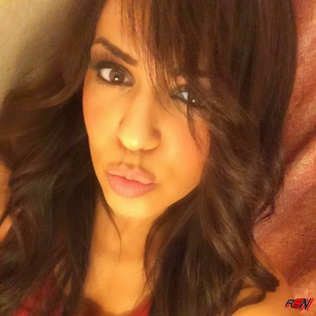 Offscreen Picture Of Layla Making a Kissy Face.