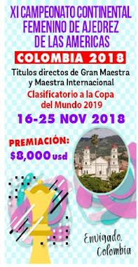 XI Campeonato Continental Femenino de Ajedrez de las Americas Colombia 2018 (Dar clic a la imagen)