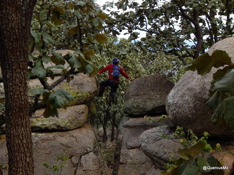 Formaciones rocosas en el Cerro Jacal de Piedra