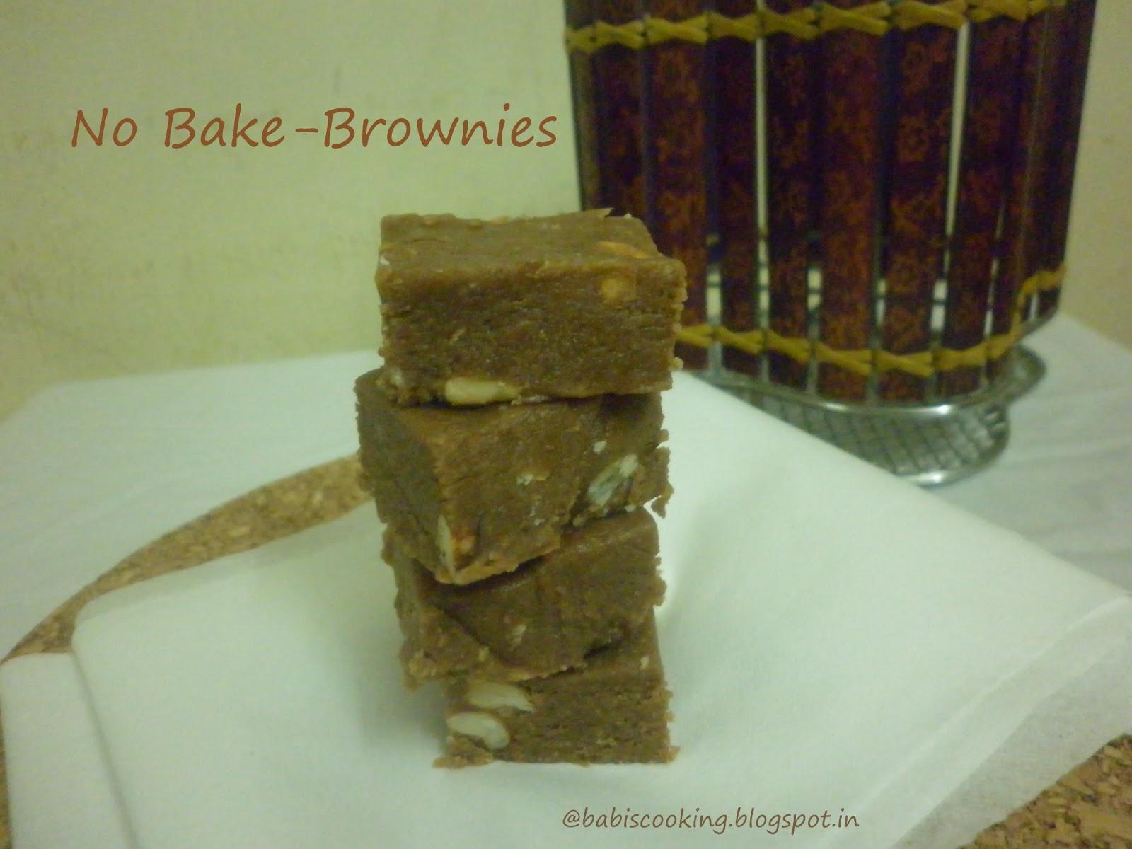 Biscuit brownies- no baka