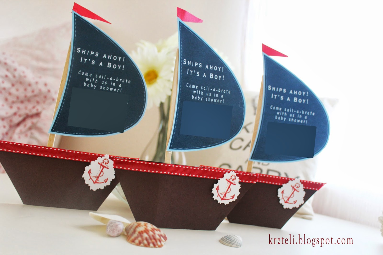 Pink confessions diy nautical baby shower invitation for Baby shower nautical decoration